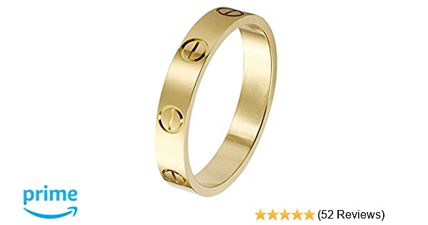 2edfa98c27552 SHIRIA Love Rings Lifetime Promise with Screw Design Best Gifts for Love  with Valentine's Day Promise Engagement Wedding