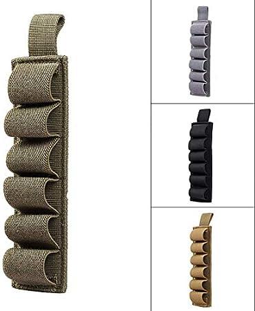 Tactical Jagd Hook Schleife 6 Runden Shell-Halter Schrot-Einsatz-Karte Streifen mit Selbstklebender R/ückseite for 12 Gauge SHUNBAO BAO-Jagd