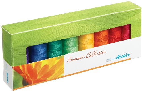 (Mettler Silk-Finish Spools Summer Cotton Thread (Set of 8), 1500 yd/1372m, )
