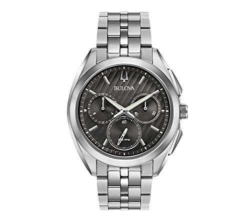 Bulova Men's Curv Collection Stainless Steel Watch