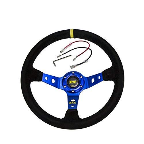 Alician Accesorio autom/ático misc Volante Azul ID = 14 Pulgadas 350 mm OMP Direcci/ón de Deriva de ma/íz Profundo
