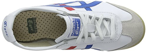 Onistuka Tiger White Blue Mixte Blanc 0146 Sneakers Mexico adulte 66 Basses rRwTqr8ag