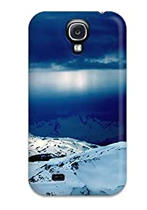 Ultra Slim Fit Hard ZippyDoritEduard Case Cover Specially Made For Galaxy S4- Rays Fall Into Ice World