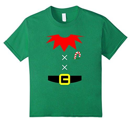 Kids ELF COSTUME Christmas Shirt | Xmas Santa Helper T-Shirt 8 Kelly Green