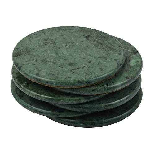 een Marble Stone Coasters 3.5 Inches (9 cm) in Diameter Mirror Polished Best Green marble stone coasters with a fine Green color and solid build material ()