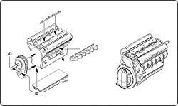 CMK 1:48 Rolls Royce Merlin Serie 60 British In-Line Engine - Resin Kit- #4216 by CMK