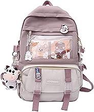 Kawaii Backpack with Kawaii Pin, Cute Accessories Backpack Girls Backpack School Bag Aesthetic Backpack with A