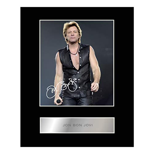 (Jon Bon Jovi Signed Mounted Photo Display Autographed Gift Picture)