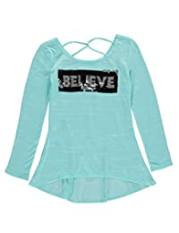 "Beautees Big Girls' ""Sequin Believe"" Top"