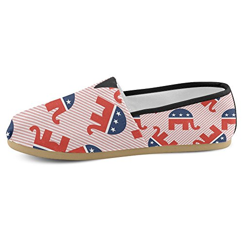 Elephants Elephants Flats Classic Shoes Fashion Canvas InterestPrint Casual Sneakers Slip Womens Loafers On 4nxxwqRUPg