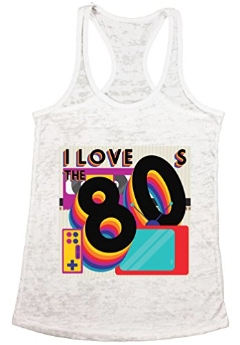 Awkward Styles 80s Workout Tanks 80s Costumes 80s Burnout Racerback Tank Tops White L