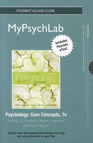NEW MyPsychLab with Pearson eText -- Standalone Access Card -- for Psychology: Core Concepts (7th Edition) (Mypsychlab (
