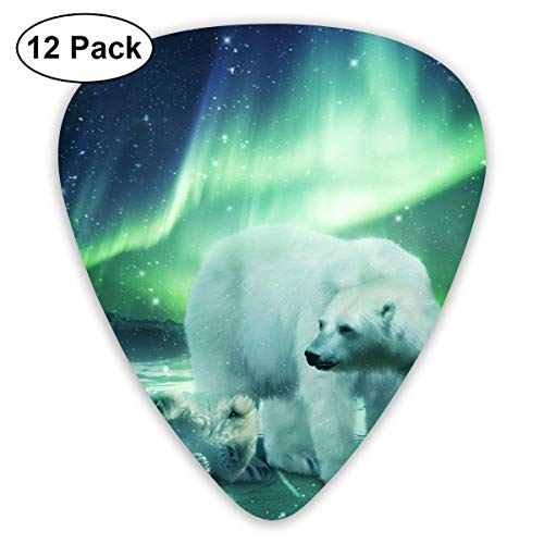 - NaiNain Northern Lights Art Classic Celluloid Guitar Picks (12 Pack) for Electric Guitar, Acoustic Guitar,Plectrums for Guitar Bass