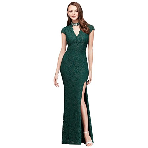 Neckline Style Hunter Glitter Bridal Mermaid David's 3487BJ3C Gem with Gown Lace 0qfTTw8