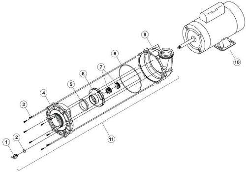 Waterway EX2 Spa Pump Seal & O'ring Kit