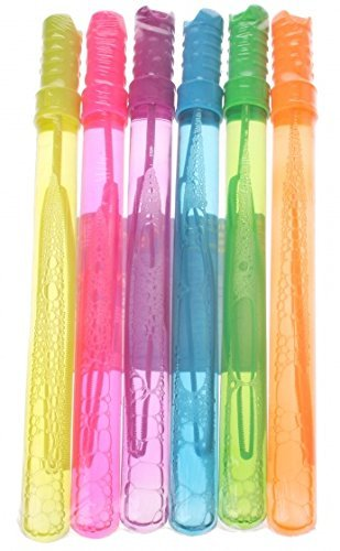Pack Of 6 Bubble Swords Assorted Colours Supplied At Random