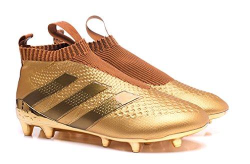 役立つコンペ指導するメンズace16 + PURECONTROL fg-agゴールドHigh Top No Lance防水Footballサッカーブーツ靴