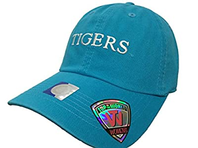 Top of the World LSU Tigers TOW WOMEN Lagoon Blue Seaside Adjustable Strap Slouch Hat Cap by Top of the World