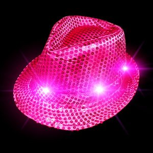 bc874b0e67c52 Buy Funcart Led Sequin HAT NEON HOT Pink Online at Low Prices in India -  Amazon.in
