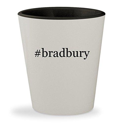 #bradbury - Hashtag White Outer & Black Inner Ceramic 1.5oz Shot (Halloween Tree Ray Bradbury Movie)