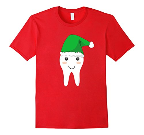 Tooth Fairy Costumes Ideas (Mens Cute Tooth Fairy Costume Shirt with green Santa Cap for Xmas Small Red)