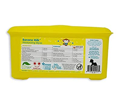 """Banana Milk Moisturizing Baby Wipes by bloom BABY   For Sensitive Skin   Formulated for Diaper Area   Infused with Plant-Derived Vitamins   Hypoallergenic   Textured & Thick 8""""x7"""" Wipes   80 Count"""