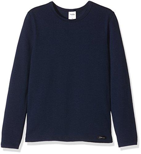Skiny Jungen Schlafanzugoberteil Cotton Basic / Shirt Lg. A, Blau (Night 0378), 164
