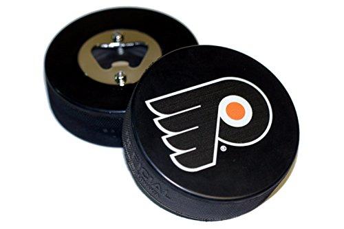 EBINGERS PLACE Philadelphia Flyers Basic Logo NHL Hockey Puck Bottle Opener