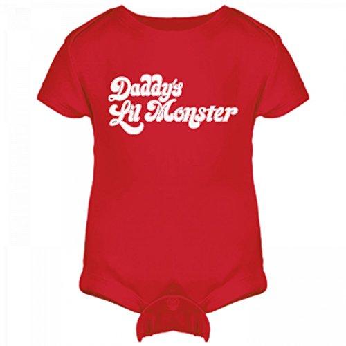 Daddy's Lil Baby Monster: Infant Rabbit Skins Lap Shoulder Creeper