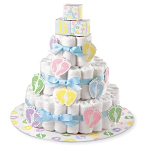 Wilton 1004 3140 diaper cake kit kitchen dining - Wilton baby shower cake toppers ...