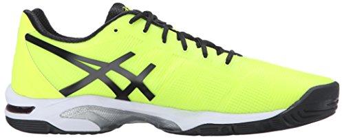 Asics Heren Gel-oplossing Speed 3 Basket Veiligheidsgeel / Zwart / Wit