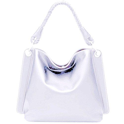 Donna Silver Fever Spalla A bianco Borsa qpqwf