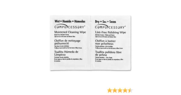 Amazon.com: CCS24219 - Compucessory LCD/Notebook Computer Screen Cleaning Wipes: Health & Personal Care