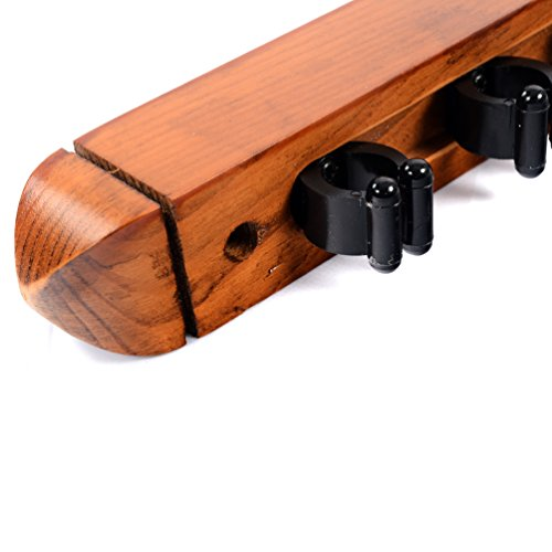CUESOUL-68-Pool-Cue-Billiard-Stick-Wall-Rack-with-Flexible-Rubber-Cue-Clips