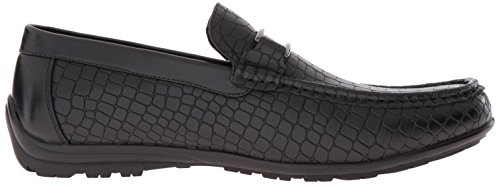 Stacy Adams Mens Lanzo Moc-tå Bit Slip-on Loafer Svart