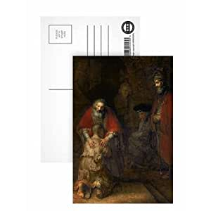 Art247 - Postal de Retorno del hijo pródigo de Rembrandt (8 unidades, 15,2 x 10,1 cm)