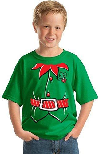 Awkwardstyles Youth Elf Costume T-shirt Santa Holiday Christmas Kids Shirt S (Elf Costume T Shirt)