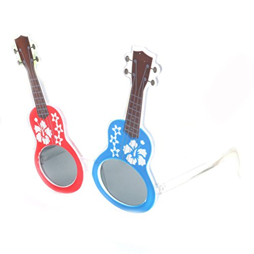 Japanese Style Cherry Blossoms Guitar Glasses Rock Party Musician Novelty Party - Eyewear Frames Japanese