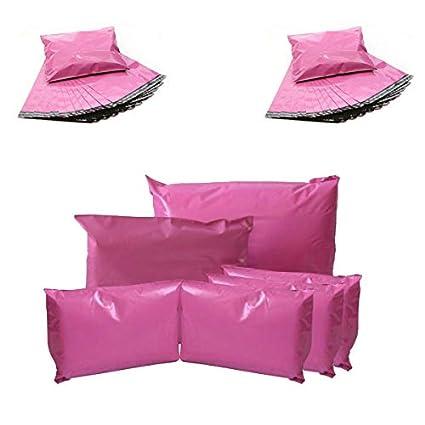 Bolsas para envíos postales, color rosa: Amazon.es: Oficina ...