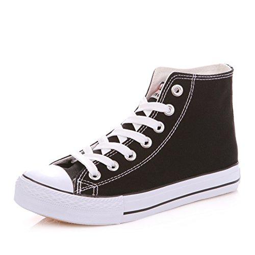 Zapatos blancos de fondo plano/Parejas de clásico estudiantes alta zapatos/Encaje de zapatos casual A