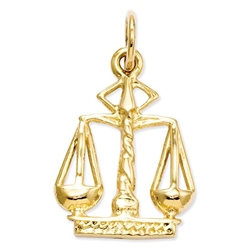 14k Scales (Roy Rose Jewelry 14K Yellow Gold Scales Of Justice Charm)