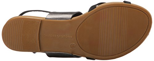 Pewter Chinese Toe Women's Marley Black Laundry Metallic Ring Metallic Sandal 40WB41qZr
