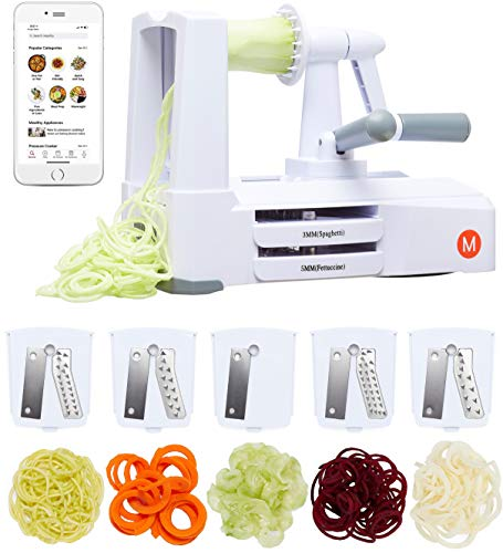 Mealthy 5-Blade Spiralizer | Vegetable Slicer with Durable Stainless Steel