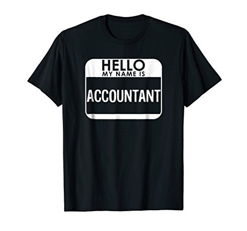 Accountant Costume T-Shirt Funny Easy Halloween Outfit ()