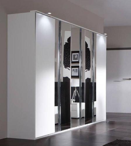Slumberhaus, armadio per camera da letto Davos, moderno, bianco ...