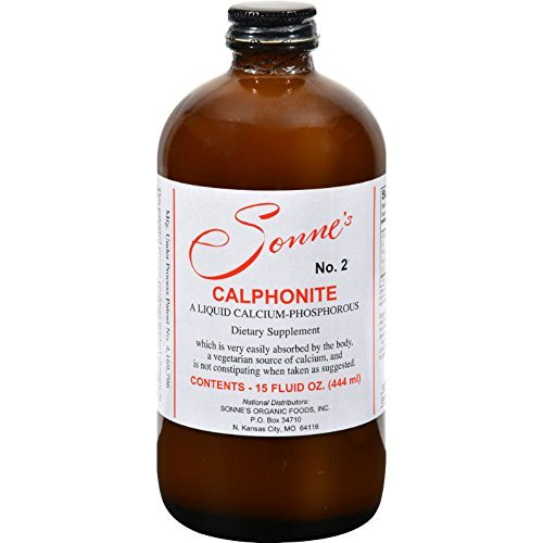 2 Packs of Sonne's Calphonite No 2 Liquid Calcium Phosphorus - 15 Fl Oz by Sonne's
