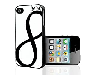 Black and White Infinity Symbol Hard Snap on Phone Case (iPhone 5/5s)