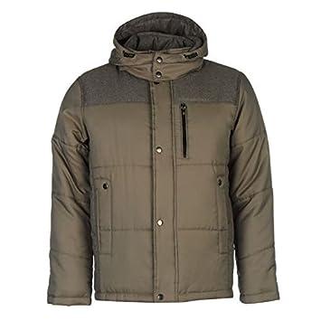 6086366306aea Lee Cooper moda acolchada chaqueta para hombre marrón chaquetas abrigos  Outerwear
