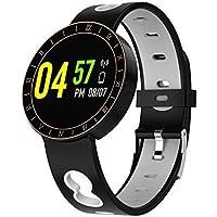 Denret3rgu Reloj Inteligente A8 a Prueba de Agua para Monitor de Ritmo cardíaco y Deportes para
