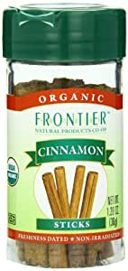 Frontier Organic Whole Cinnamon Sticks,  1.28 Ounce